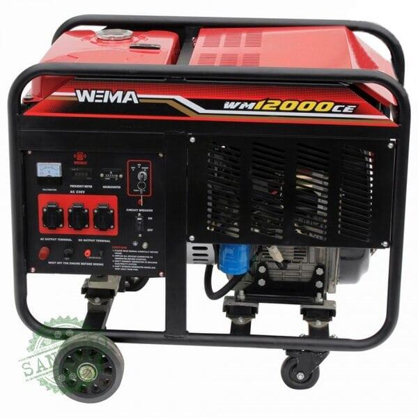 Генератор дизельный WEIMA WM12000CE1 (12 кВт, 1 фаза, электростартер)