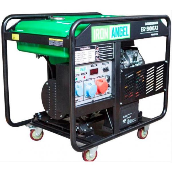 Генератор бензиновый IRON ANGEL EG15000EA3 + блок автоматики
