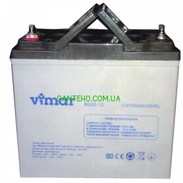 Гелевый аккумулятор VIMAR BG55-12 12B 55АЧ