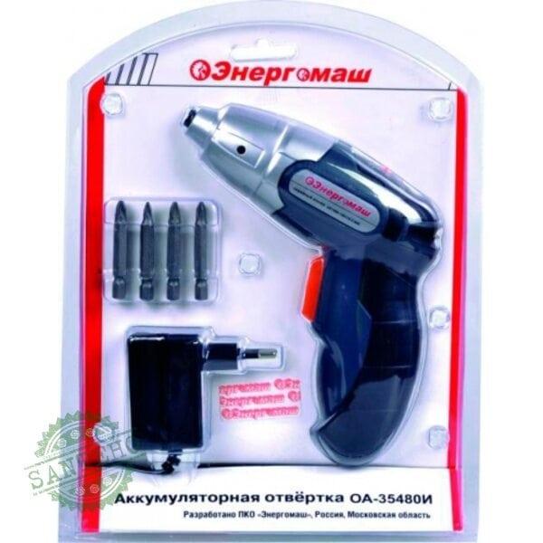 Аккумуляторная отвертка Энергомаш ОА-35480И