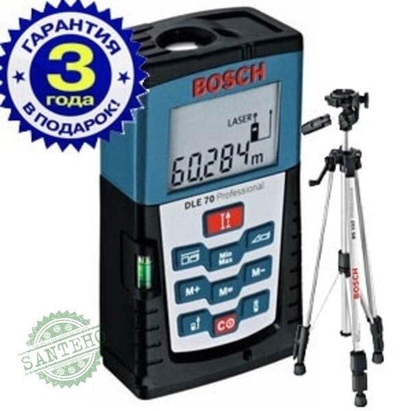 Лазерный дальномер Bosch DLE 70 + штатив BS 150