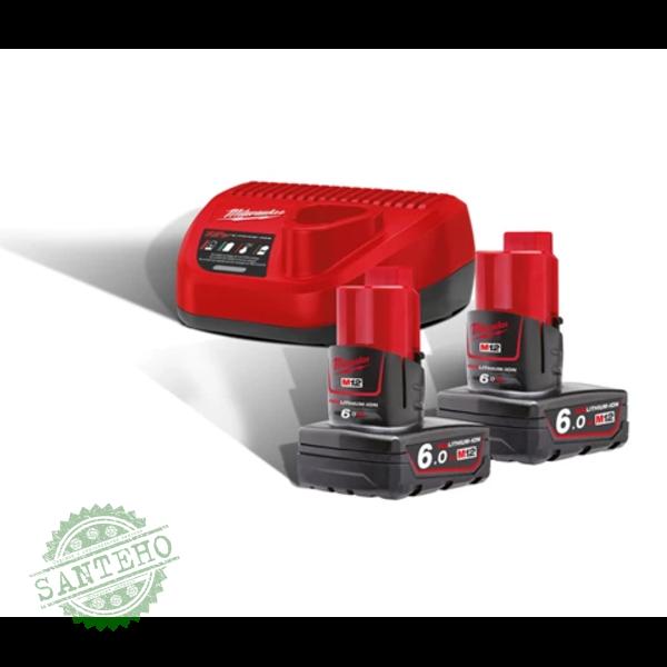 Зарядний пристрій + акумулятор MILWAUKEE M12 NRG-602