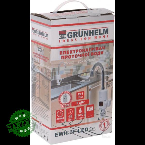 Электронагреватель проточной воды Grunhelm EWH-3F-LED