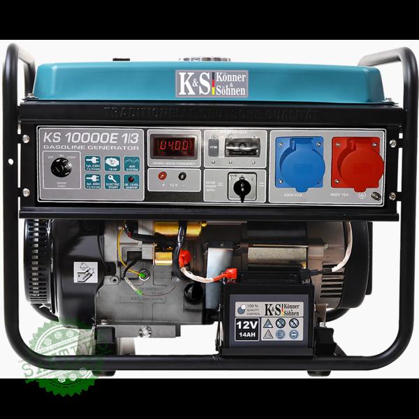 Бензиновий генератор Konner & Sohnen KS 10000E-1/3, купити Бензиновий генератор Konner & Sohnen KS 10000E-1/3