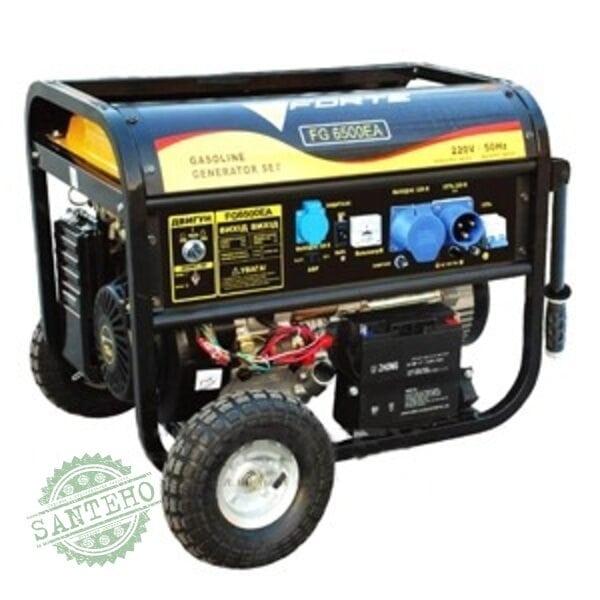 Бензиновый генератор FORTE FG6500EA с блоком автоматики, купить Бензиновый генератор FORTE FG6500EA с блоком автоматики