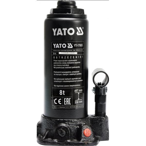 Домкрат гідравлічний пляшковий YATO YT-17003