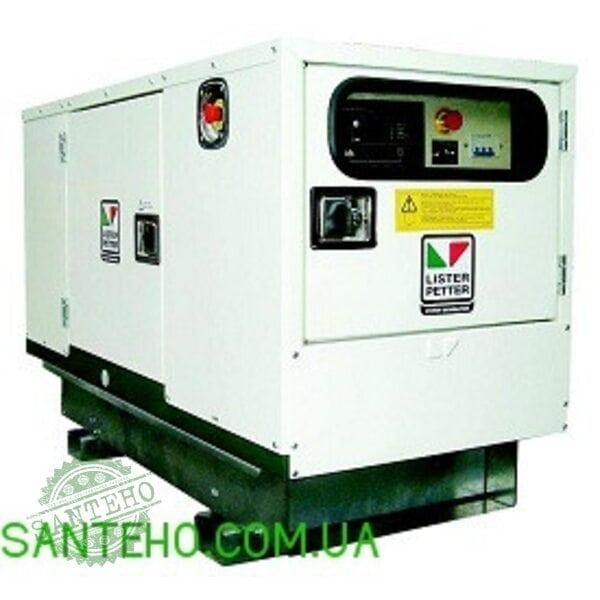 Дизельный генератор Lister Petter LLD190A-WLE350