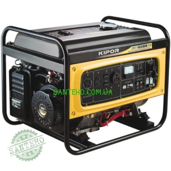 Трёхфазный генератор KIPOR KGE6500E3 + автоматика, купить Трёхфазный генератор KIPOR KGE6500E3 + автоматика