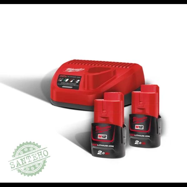 Зарядное устройство+аккумулятор MILWAUKEE  M12 NRG-202