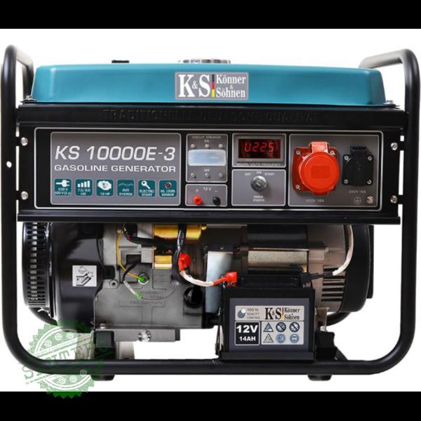 Бензиновый генератор Konner & Sohnen KS 10000E-3, купить Бензиновый генератор Konner & Sohnen KS 10000E-3