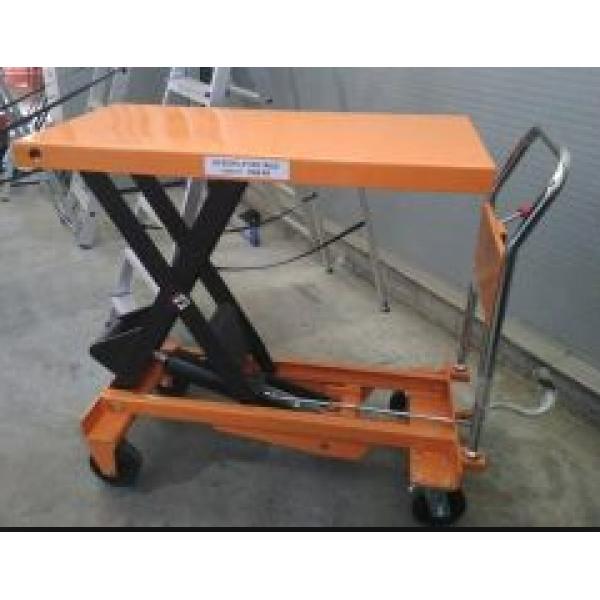 Стол гидравлический подъемный VULKAN SYTJ-100 желтый