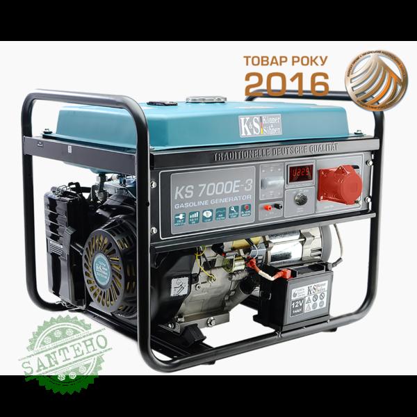 Бензиновый генератор Konner & Sohnen KS 7000E-3, купить Бензиновый генератор Konner & Sohnen KS 7000E-3