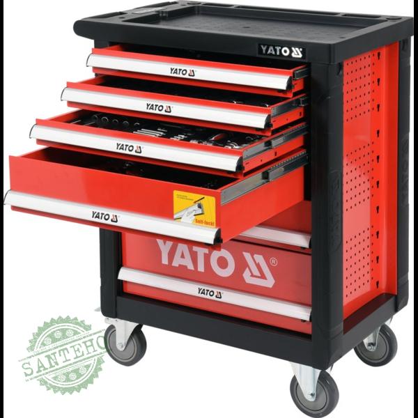 Инструментальная тележка на колёсах с выдвижными ящиками Yato YT-55307