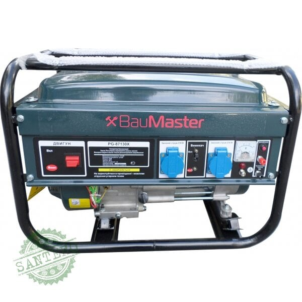 Генератор бензиновый 3000 Вт BauMaster PG-87130X