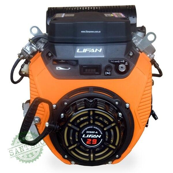 Двигатель двухцилиндровый Lifan 2V80F-A (электростартер + ручной стартер)
