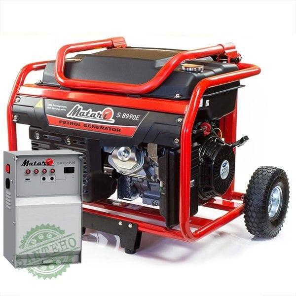 Бензиновый генератор Matari S 8990E ATS (автозапуск)