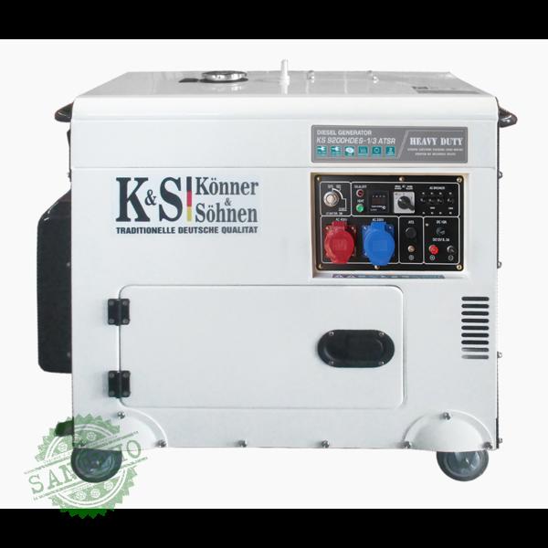 Дизельний генератор Konner & Sohnen KS 9200HDES-1/3 ATSR, купити Дизельний генератор Konner & Sohnen KS 9200HDES-1/3 ATSR