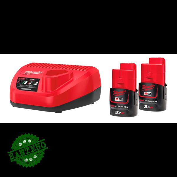 Зарядное устройство+аккумулятор MILWAUKEE М12 НРГ-302