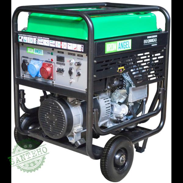 Генератор бензиновый IRON ANGEL EG12000EA3 + блок автоматики
