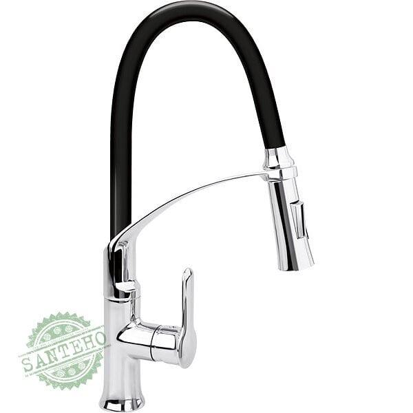 """Смеситель воды для раковины """"FLEXIBLE-2"""" FALA с гибкой черной воронкой и регулировкой потока воды 60 см"""