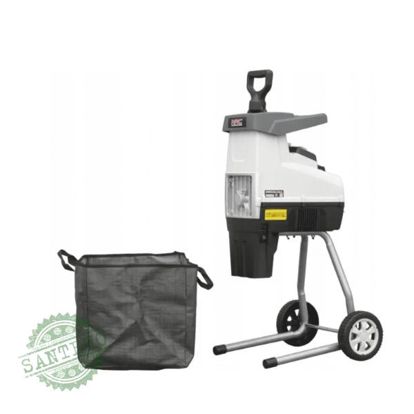 Измельчитель веток садовый электрический NAC SHE280S-BAG-G